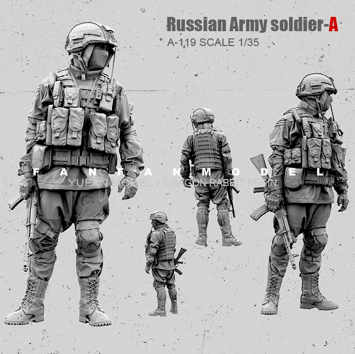 1/35 Resin Figure Kits Russian Special Forces Soldier Model Self-assembled A-119