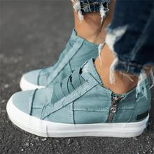 Women Shoes canvas casual flat 2020 NEW Slip On Solid Color