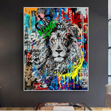 Abstract Graffiti Lion Street Art Posters And Prints Canvas Painting On Wall Art Picture For Living Room Decoration Cuadros