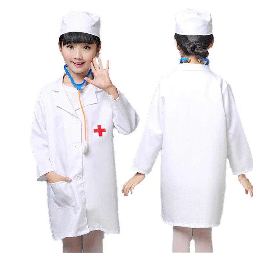 Костюмы медсестры для косплея для девочек, медицинская униформа для медсестры, куртки для Хэллоуина, семейные вечерние игры, детская одежда...
