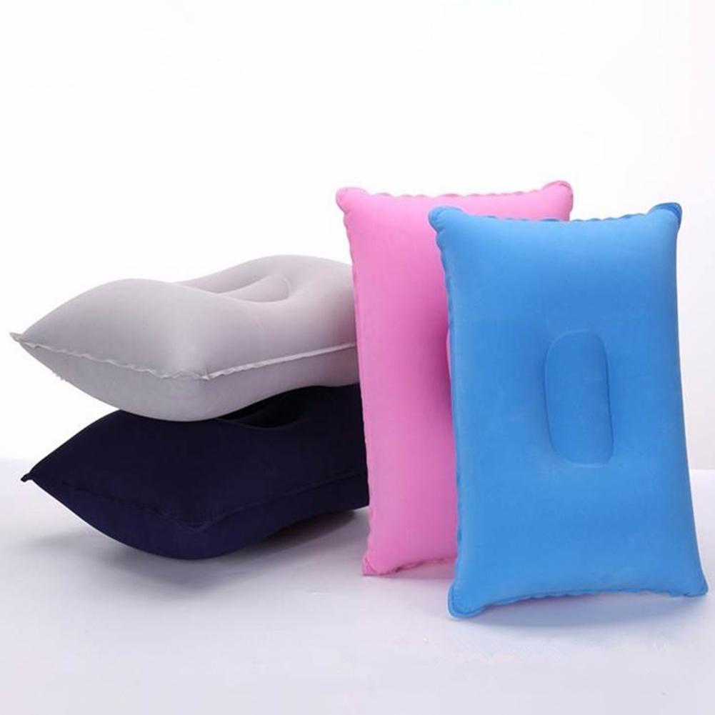 Portable Travel Plane Hotel Portable Folding Air Inflatable Pillow Soft Break Sleep Cushion