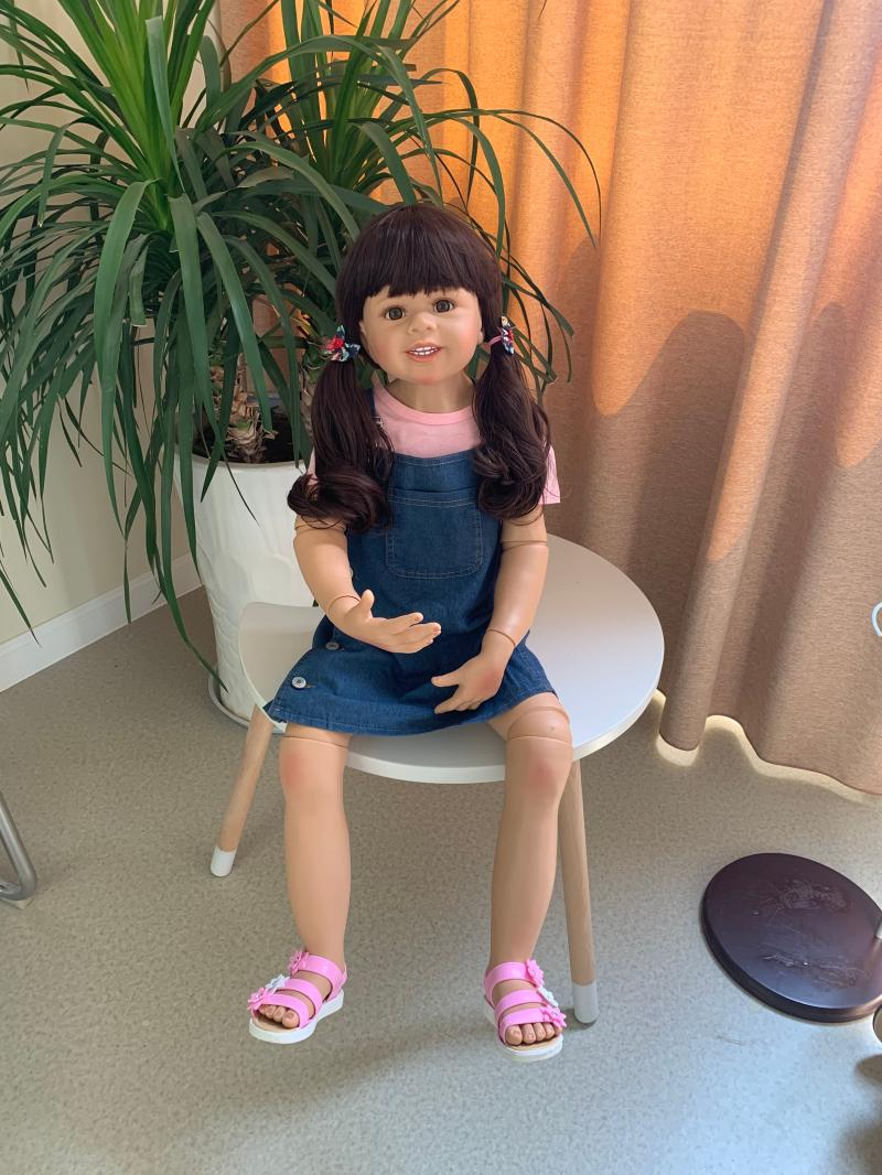 98cm 38.5 pouces Reborn bébé poupée corps entier Silicone inteiro bébé vie Boneca Reborn bambin jouets pour enfants Brinquedos Juguetes - 4