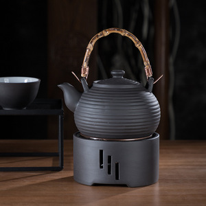 Image 4 - Base de calentamiento, vela japonesa, calentador de té Kungfu, Base de aislamiento, ceremonia, calentador de cerámica, tetera, flor hervida, té