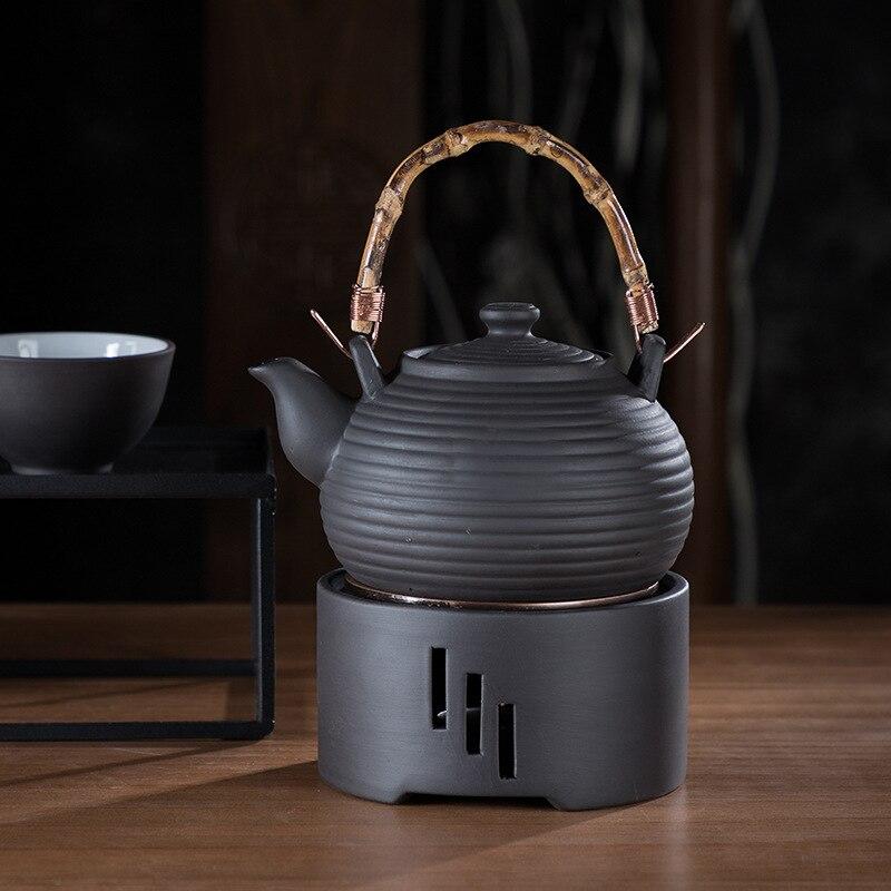 Image 4 - Heating Base Japanese Candle Tea Warmer Kungfu Tea Warmer  Insulation Base Ceremony Ceramic Heater Tea Pot Boiled Flower Tea  -