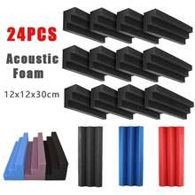 Acoustic Studios-Recording Corner-Bass-Traps 24pcs Blocks Column Sound-Absorption-Panels