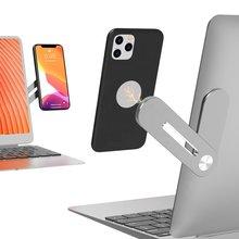 Extensão lateral do portátil magnético suporte do telefone móvel notebook celular suporte para iphone 12 11 samsung xiaomi huawei