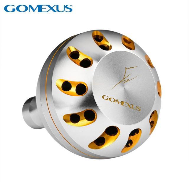 Gomexus電源ノブシマノステラswリールハンドルグリップb 45 ミリメートル金属ラウンドクランクノブ