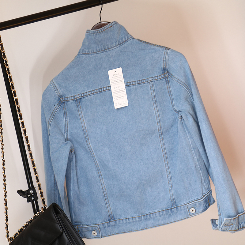 H917a8f16670249e49a023403e339d0b3I Jeans Jacket and Coats for Women 2019 Autumn Candy Color Casual Short Denim Jacket Chaqueta Mujer Casaco Jaqueta Feminina