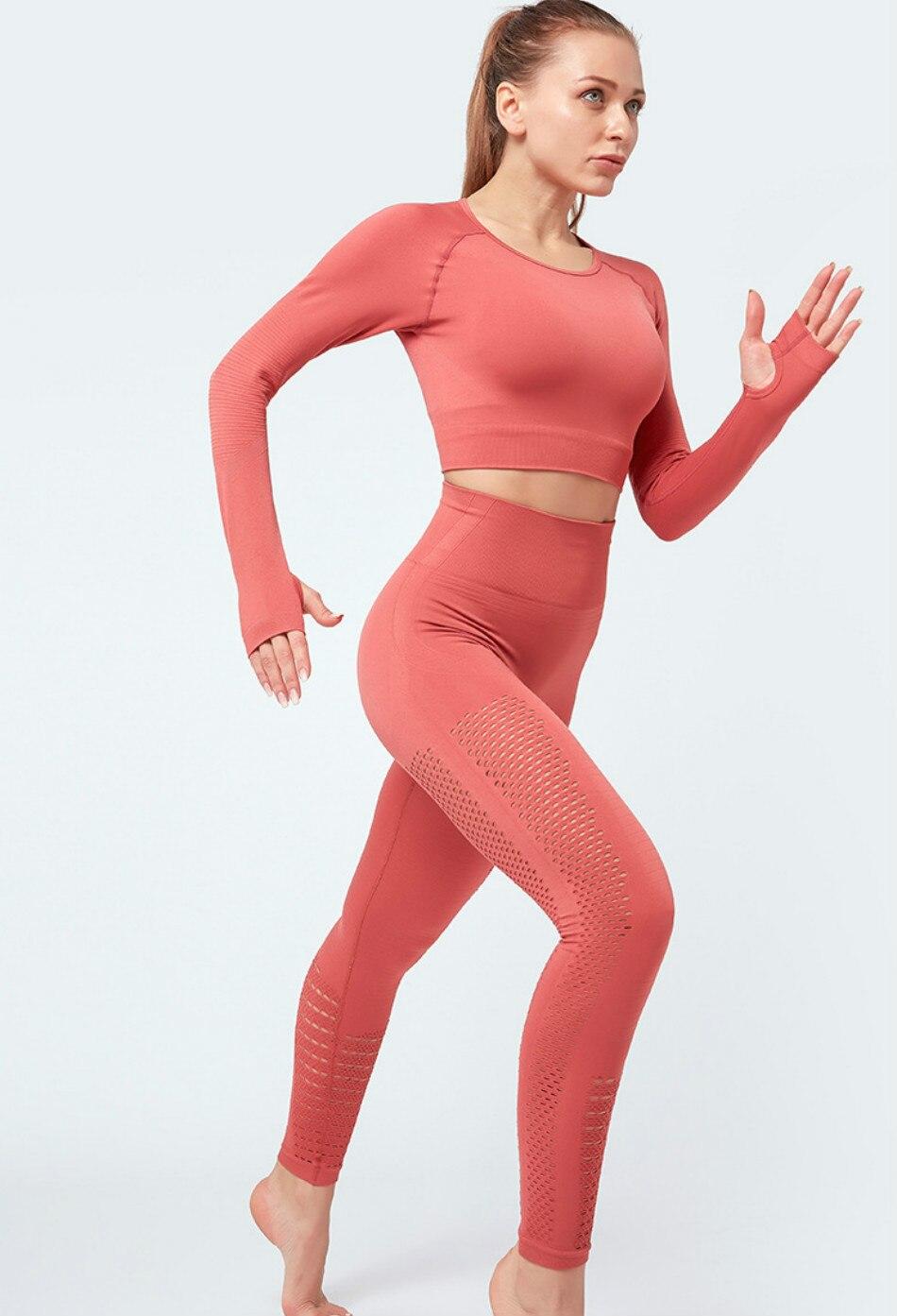 costura manga longa ginásio mulher camisa esporte