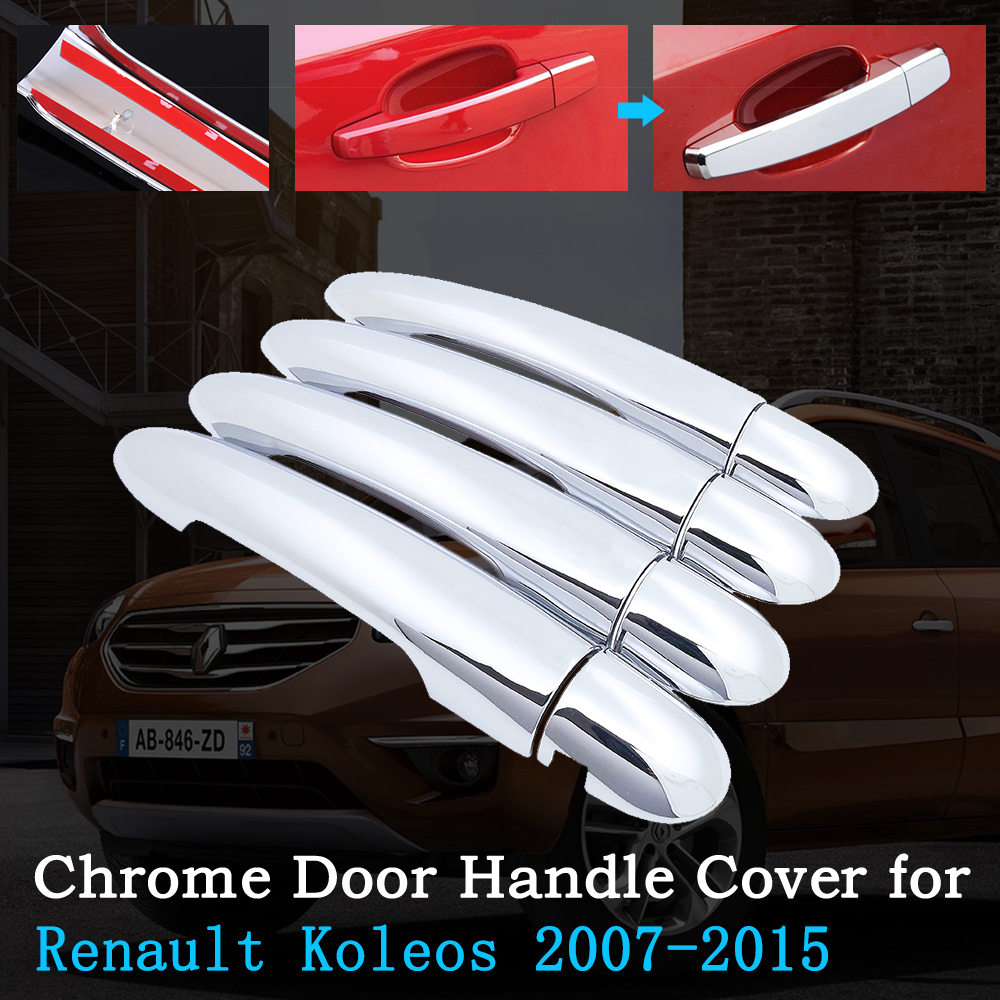 Chrome Car Door Handle Cover for <font><b>Renault</b></font> <font><b>Koleos</b></font> Samsung QM5 I MK1 <font><b>2008</b></font>~2015 Trim Set Exterior Accessories 2009 2011 <font><b>2013</b></font> 2014 image