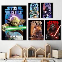 strong Import List strong Obrazy na płótnie Disney Star Wars Vader Yoda Retro Anime portret plakaty i druki obraz ścienny do salonu Home Decor tanie tanio CN (pochodzenie) Wydruki na płótnie Pojedyncze PŁÓTNO akwarelowy abstrakcyjne bez ramki Malowanie natryskowe Pionowy prostokąt