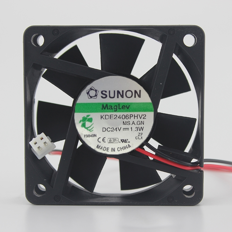 2pcs Original For Sunon KDE2406PHV2 6015 60mm DC 24V 1.3W Maglev 60X60X15mm IPC Axial Cooling Fans