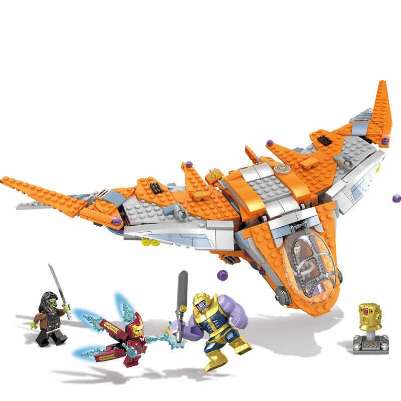 New Avengers 4 Endgame Super Hero Infinity War Thanos Iron Man Ultimate Battle Legoinglys 76107 76108 Building Blocks Toys Gift