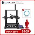 Настольный 3D-принтер ANYCUBIC Mega Zero, цветная 3D-печать, экструдер с металлической рамой, высокоточная печать