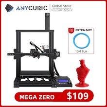 Anycúbico mega zero impressora 3d desktop extrusora de impressão a cores de metal quadro impressora alta precisão