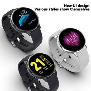 Inteligentny zegarek IP68 wodoodporna Sport mężczyźni kobiety Smartwatch Bluetooth opaska monitorująca aktywność fizyczną pulsometr dla Android IOS Gobal Versio