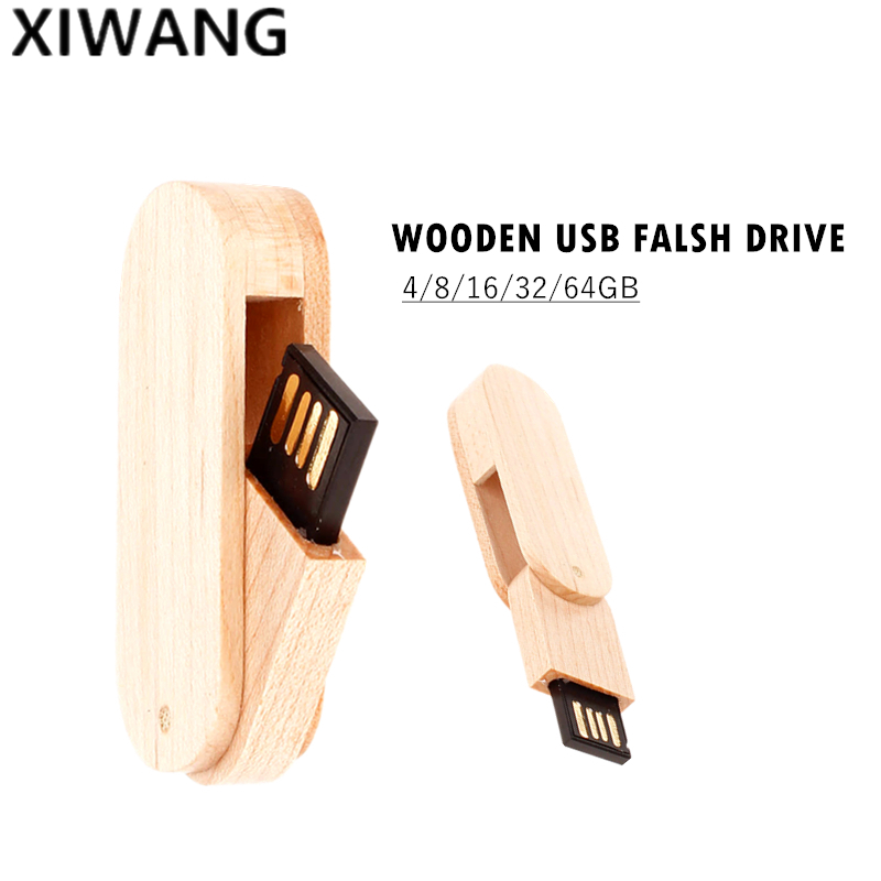 Image 5 - USB flash drive Mini rotary wood Pendrive usb 2.0 4GB 8GB 16GB pen drive 32GB 64GB 128gb high speed usb memory stick custom logo-in USB Flash Drives from Computer & Office