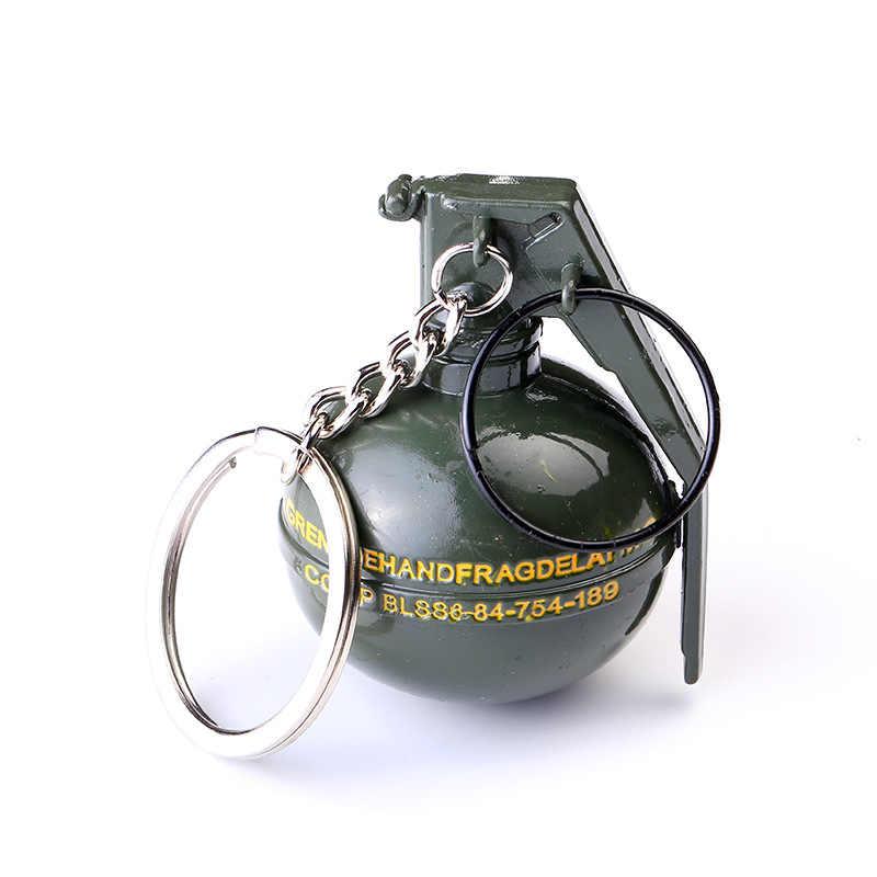 2020 oyun PUBG anahtarlık Cosplay sahne Stun bombası duman bombası shard bombası silah silah oyuncak anahtarlık noel