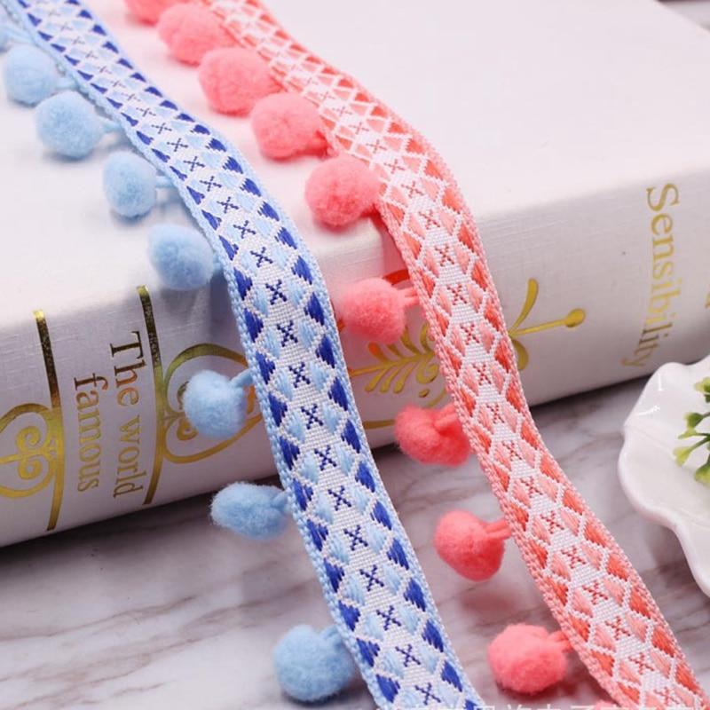 2 Yards Braid Ribbon Trim Plush Band for Headband Bridal Dress Sewing Decor