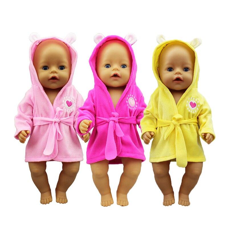 Nouveau peignoir vêtements de poupée né bébé ajustement 17 pouces 43cm poupée accessoires pour bébé cadeau Festiival