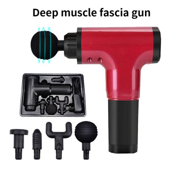 Shaping Massage Gun Deep Tissue Fascia Gun 6 Speeds Cordless Handheld EMS Muscle Massager Chargeable Device Slimming Pain Relief