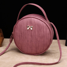 Classic Texture Shoulder Bags For Women 2019 Fashion Crossbody Round Ba