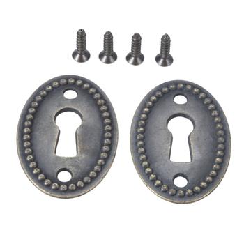 2 sztuk w owalnym kształcie kłódki dziurki od klucza wzór Hollow złącza do biżuterii komoda komoda szafka biurko szuflady podejmowania tanie i dobre opinie NONE CN (pochodzenie) Keyhole Cover otwierane w prawo Kłódka na klucz approx 38*25mm 1 50*0 98inch Zinc alloy approx 24mm 0 94inch