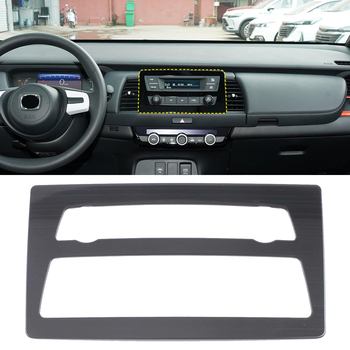 Fit for Honda Fit / Jazz 2020 2021 Car Accessories Stainless Steel Console GPS Navigation Panel Cover Trim 1pcs image