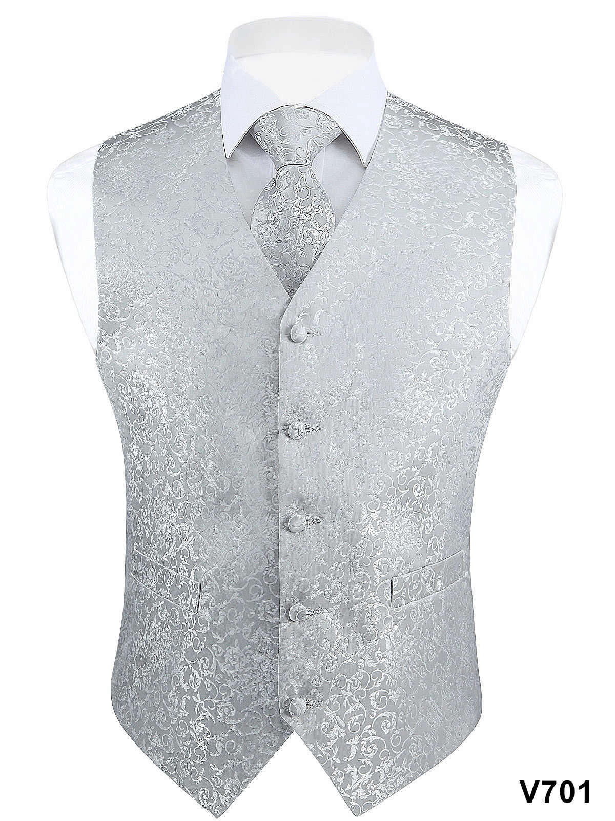 Mode Kleur mannen Wedding Party Paisley Jurk Vest Casual Tuxedo Vest Tie Pocket Plein Pak Set
