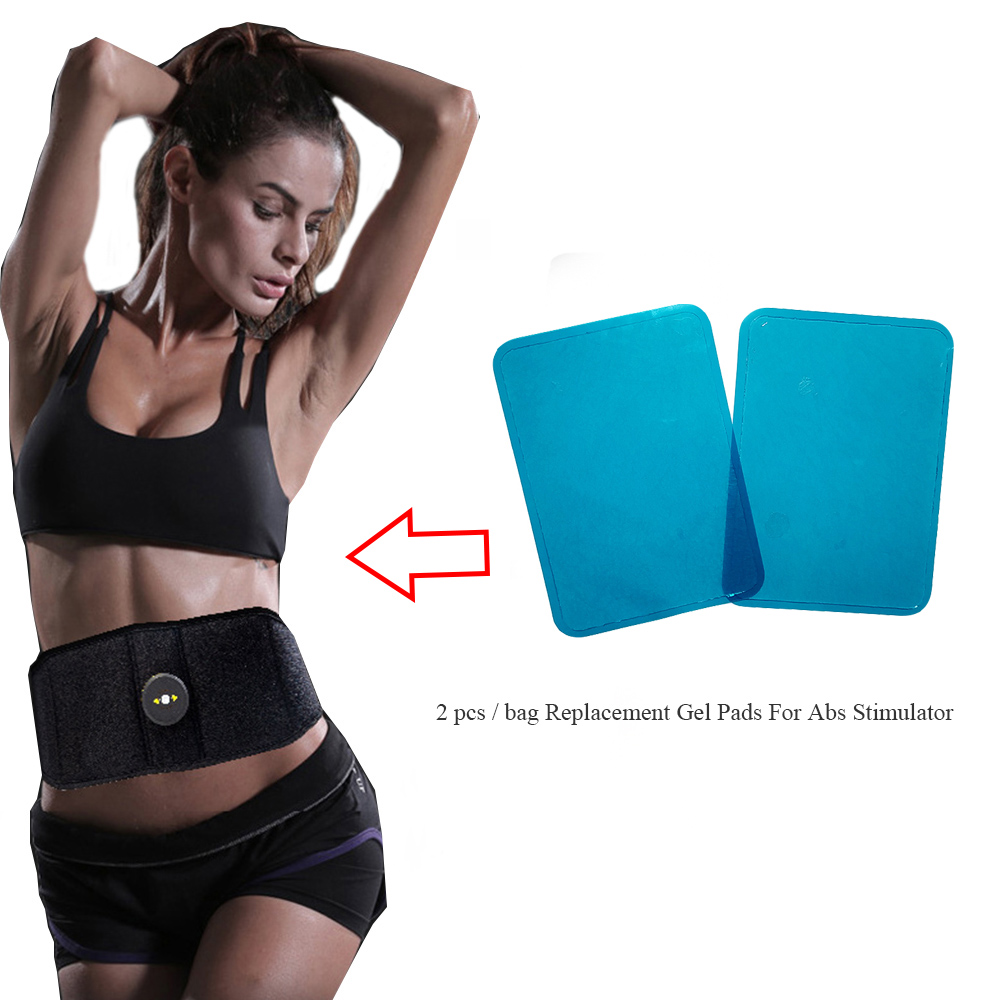 Massager Patch 2 pcs Replacement Gel Pads For Abs Stimulator Trainer Muscles Training EMS Massage Waist Toning Belt Accessories