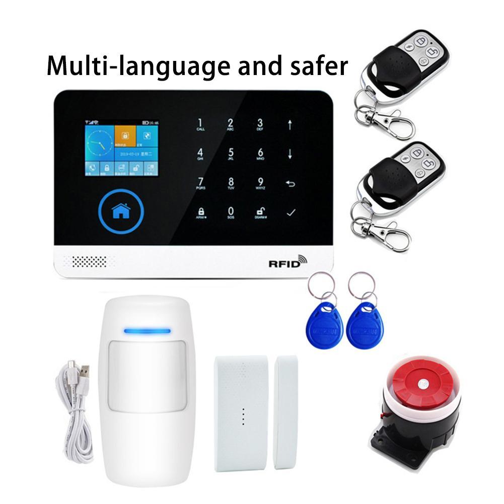 2019 Newest Wireless Home Security WIFI GSM GPRS Alarm System APP Remote Control RFID Card Arm Disarm