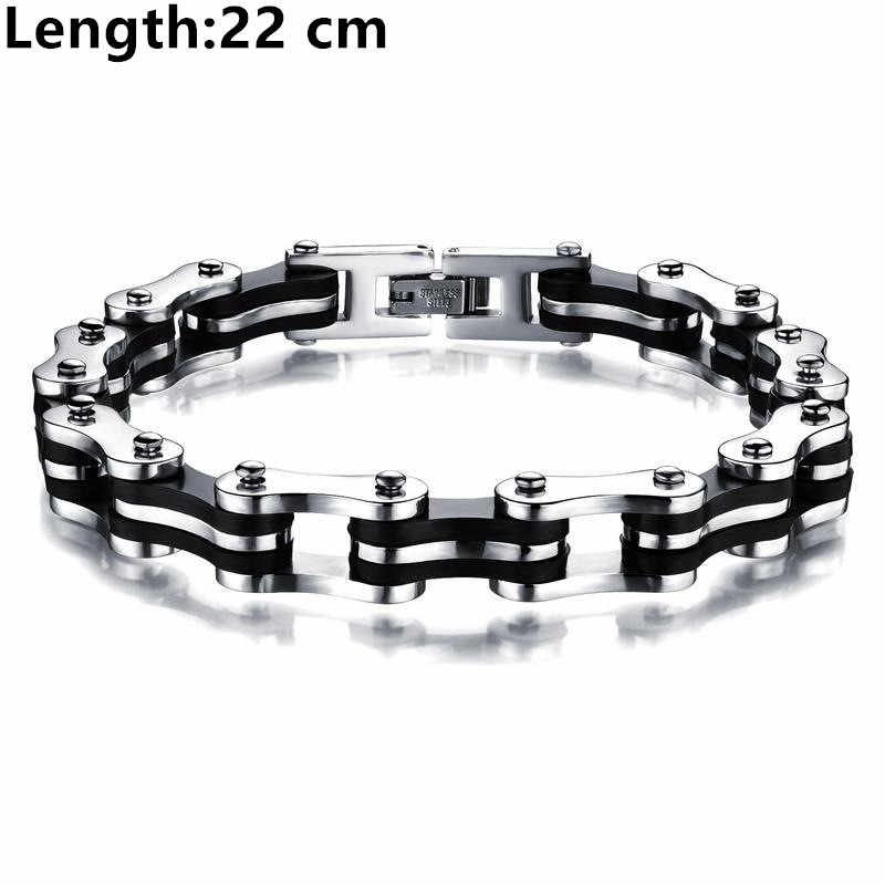 MD Punk Jewelry Special Biker Bicycle Motorcycle Chain Men's Bracelets Bangles 9mm Titanium Steel Bracelet