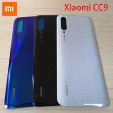 Baterii etui na Xiaomi mi CC9 z powrotem Panel ze szkła tylne drzwi obudowa obudowa do Xiaomi mi CC9e CC9 pokrywa baterii wymiana