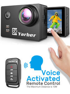 Yarber 8K WIFI Action Camera 4K 60fps 20MP HD 40M Waterproof Action Cam APP Remote Control