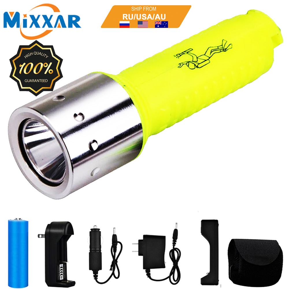 ZK20 LED Diving Flashlight 18650 Waterproof Torch Lamp Professional Scuba for Outdoor Diving Swim Under Water Sport Dropshipping|LED Flashlights|   - AliExpress