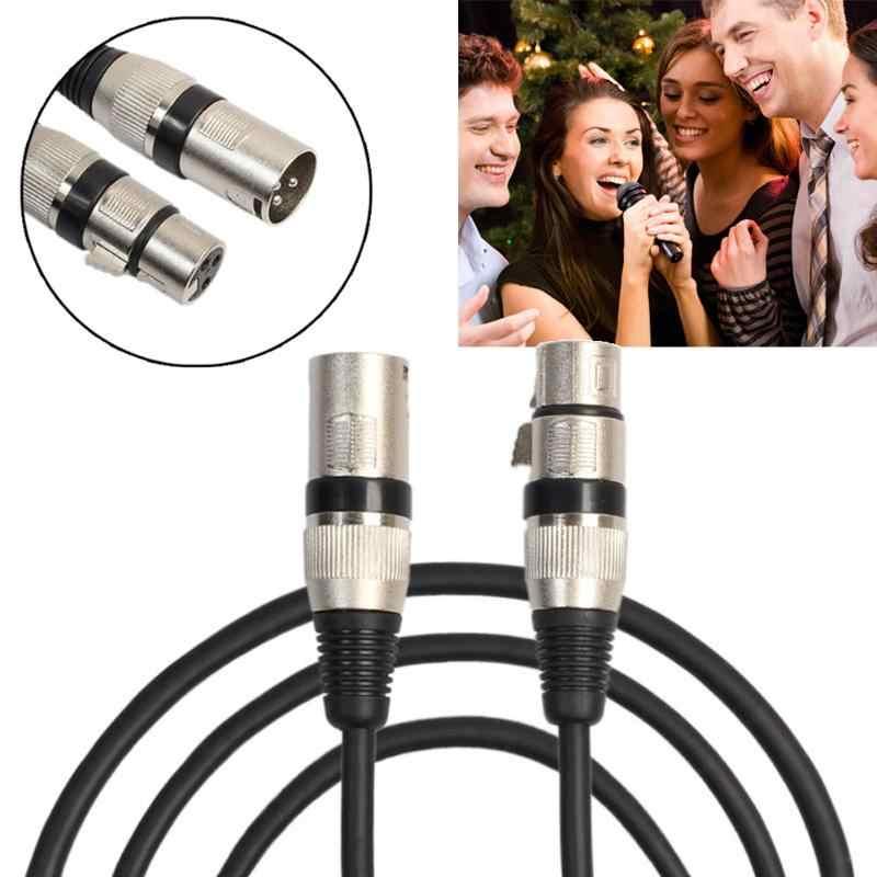 1 m/1.8 m/3 m 3 פין XLR מיקרופון כבל זכר לנקבה 3 דרך XLR תקע כדי XLR שקע מיקרופון מיקרופון אודיו כבל מאריך