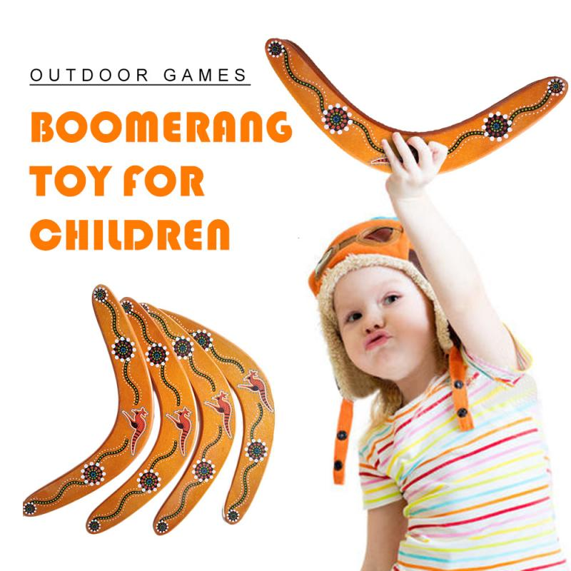 New Outdoor Kids Wooden Boomerang Toy Flying Wood High Intensity V Shaped Funny Boy Game Gift