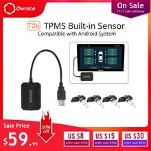 Ownice USB Android TPMS монитор давления в шинах Android навигационный контроль давления система сигнализации Беспроводная передача TPMS