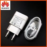 Huawei caricabatterie rapido originale QC 2.0 EU adattatore di ricarica rapida per Honor 9 P9 P20 Lite Mate 20 Lite Nova 2 3 cavo USB tipo C