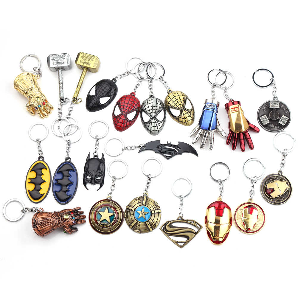 Avengers 4 Keychain Thor Axe Hammer Mjolnir Infinity War The Dark World Key Finder Bags Keyring Jewelry Accessories