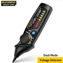 MAXRIENY AVD06 Detector de voltaje sin contacto enchufe de prueba de pared, toma de corriente AC, indicador de pluma a prueba en vivo, 12 ~ 1000V, multímetro de partido