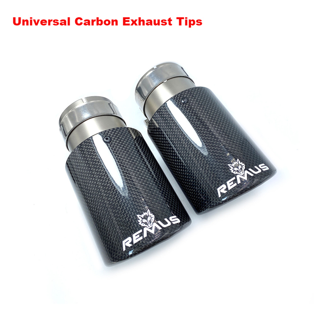 Top Quality Sandblasting Car Glossy Carbon Remus Muffler Tip Exhaust System Pipe Mufflers Exhaust Tips For BMW Benz Audi