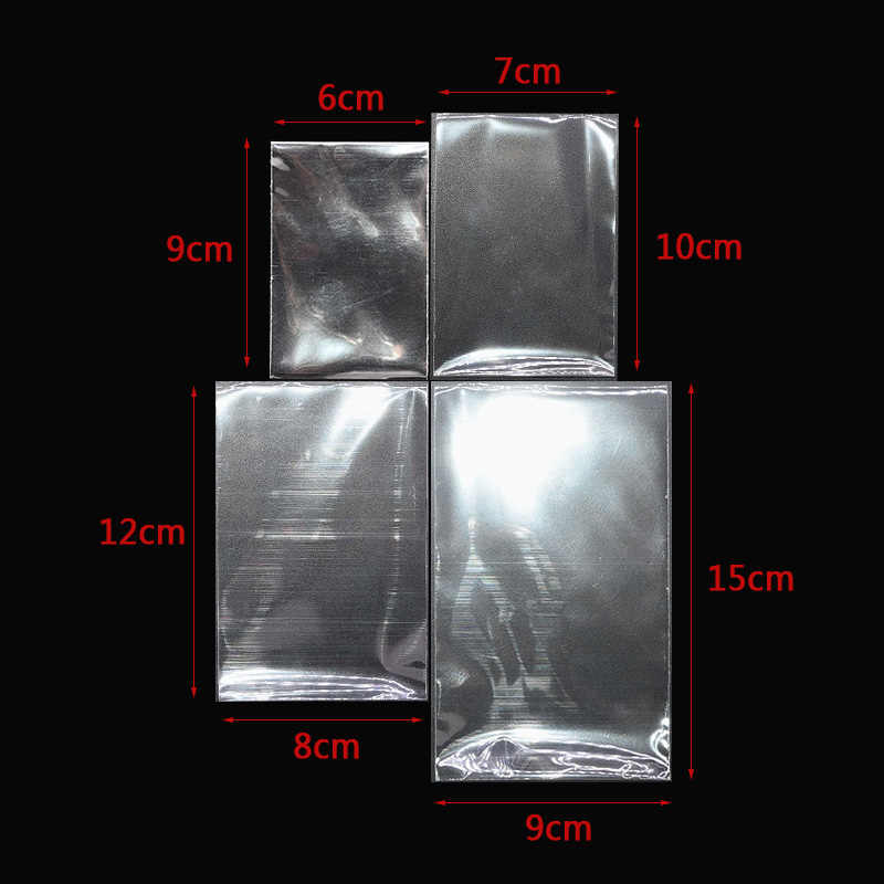 100 Uds. Pequeñas bolsas de plástico transparentes para dulces piruletas Paquete de celofán bolsa de regalo de boda Favor Poly Opp