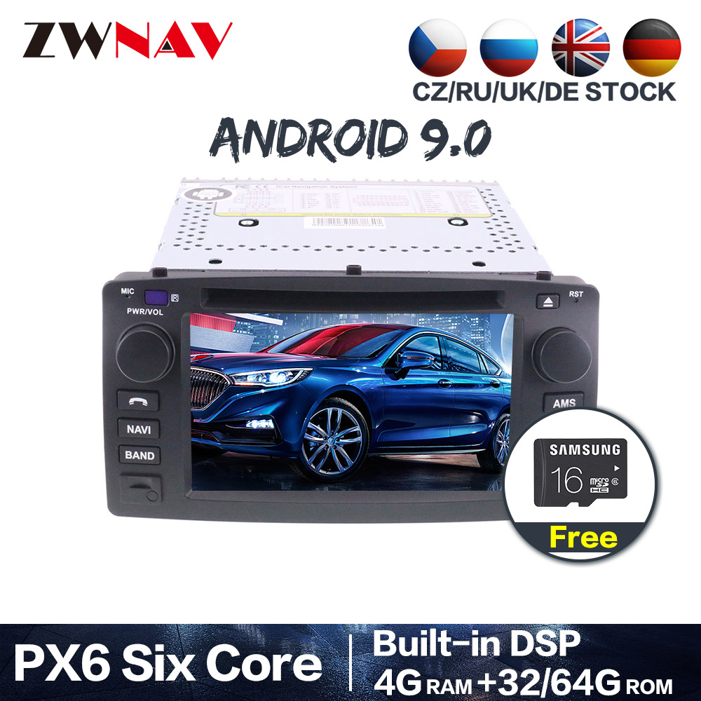 PX6 IPS 4+64G Android 9.0 Car DVD Stereo Multimedia Head unit For <font><b>Toyota</b></font> <font><b>corolla</b></font> 2001-2006 <font><b>Radio</b></font> GPS Navi Audio Video stereo map image