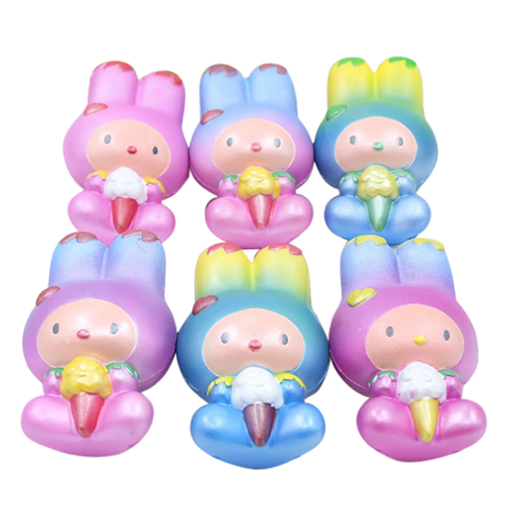 Jumbo Colorful Rabbit Cute Super Slow Rising Scented Fun Animal Toys Simulation Toy Animal Cute Long Ear Rabbit Toy L113