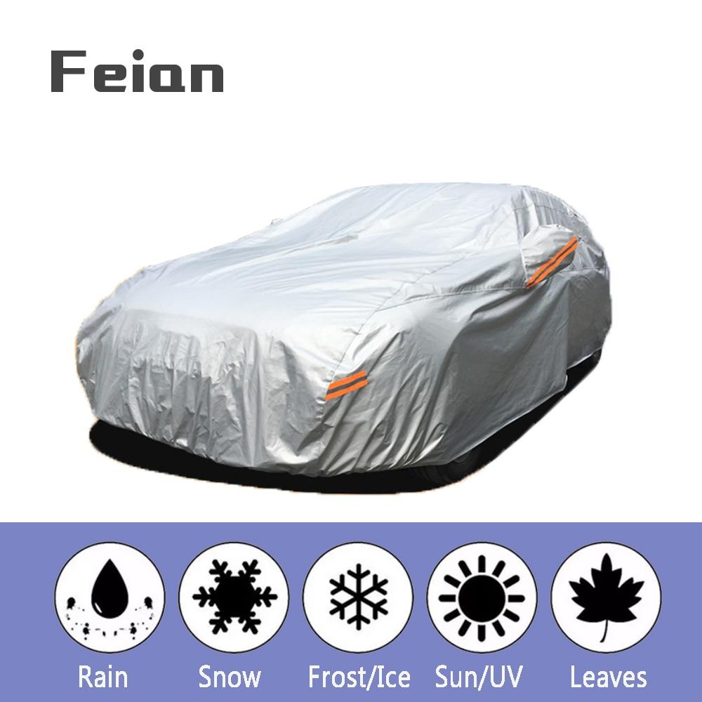 Universal Full Car Covers Outdoor Waterproof Sun Acid Rain Snow Protection UV Car Umbrella cotton thicken SUV Sedan Hatchback