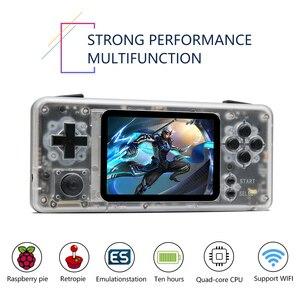 Мини-консоль для видеоигр CM3, портативный ручной Ретро игровой плеер, предварительно установленная система Retropie, 15000 игр, поддержка карты 256G