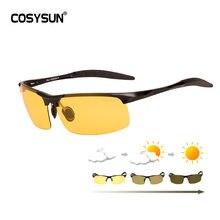 Мужские алюминиевые фотохромные солнцезащитные очки мужские
