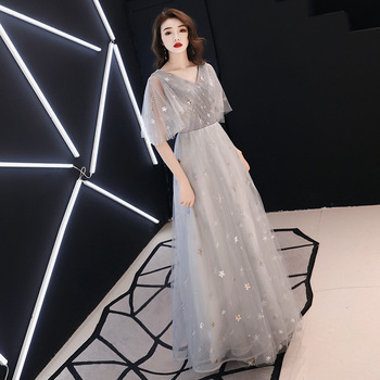 Fairy Evening Dresses Plus light chiffon Appliques Long Formal Dresses Gowns V Neck Lace Up Sleeveless Robe De Soiree