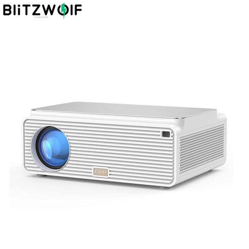 Blitzwolf BW-VP2 LCD Projector 6500 Lumens Support 4K Resolution Image Adjustment HDMI VGA AV Multiple Ports Built-in Speaker